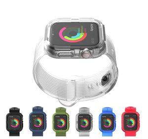 보호 케이스와 고품질 TPU 교체 시계 스트랩 애플 시계 시리즈 5 4 3 2 1 시계 밴드 iWatch (38) (40) (42) 44mm