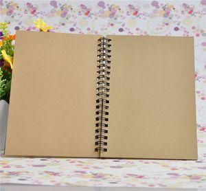 كرافت غطاء الكمبيوتر المحمول المجلات وسادات مخطط مع بياض ورقة براون الدفتر يوميات للمسافرين رسم لوحة