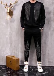 Alta qualità vestito di sport degli uomini Autunno Inverno Mens Tute Imposta Jogger Hip Hop stampati Phillip Plain Felpe 09.280.001
