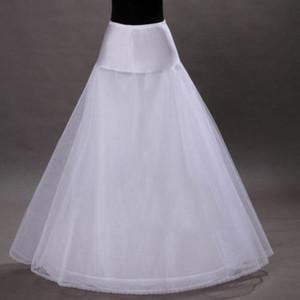 جديد وصول الأسهم جديد الأبيض ONE-HOOP BRIDAL اكسسوارات الزفاف تنورات 2019 ثوب الزفاف القرينول قماش قطني ملابس داخلية