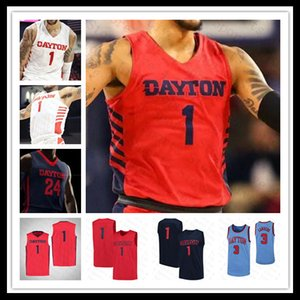 NCAA Men 2021 Dayton Flyers Колледж Джерси Баскетбол Obi Toppin Ibi Watson Trey Landers Jalen Cruchter Ryan Mikesell Johnson Custom 4XL Red
