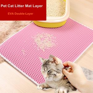 높은 품질의 애완 동물 고양이 쓰레기 매트 레이어 EVA 더블 레이어 고양이 쓰레기 트래핑 매트 패드 하단 미끄럼 방지 애완 동물 쓰레기 고양이 매트 더블 DHL
