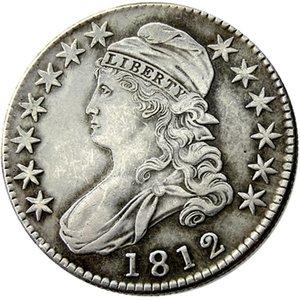 US 1812 Capped mezzo Dollaro Argento Placcato monete copia mestiere del metallo muore fabbricazione prezzo di fabbrica