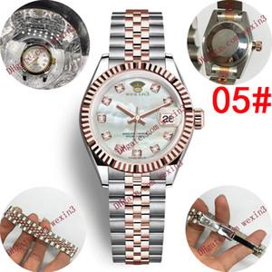 18 Lovers Uhren Diamant-Uhr-Frauen-Automatik-Armbanduhr 28mm Perlmutt Shell Dial Damen-Paar-Uhr Exquisite Orologio Di Lusso