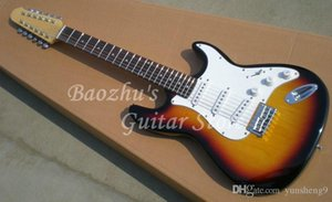 12 strings F Electric Guitar, Vintage Sunburst, r, Accept customization Stratocaster