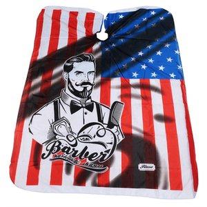 Moda EE. UU. Bandera Cortes de pelo Diseño de peinado de tela Banderas de América Delantales de peluquero Herramienta de peluquería Capas de corte de pelo TTA1679