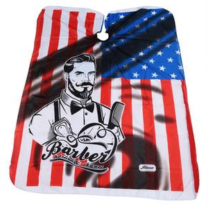 أمريكا تصفيفة الشعر العلم حلاقة الولايات المتحدة الأمريكية حلاقة تصميم مآزر حلاقة القماش الرؤوس تصفيف الشعر أداة الأزياء TTA1679 XFASX