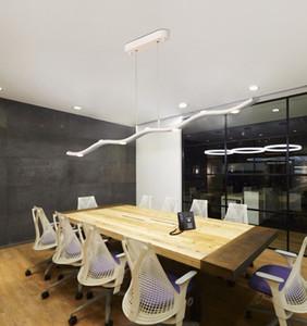 Lustre minimalista nórdico modern led candelabro lâmpada para sala de estar sala de jantar sala de estudo lustre iluminação do escritório