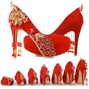 Fairy2019 And Wedding Xiuhe Women's Shoes In National Customs Marry Full Dress Rhinestone Will Code Chinese Style Phoenix Single Shoe