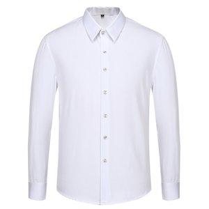 2020Brand New fashion long sleeve mens dress shirts Silk cotton slim fit men casual shirts luxury Medusa shirts