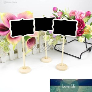 Mini Wooden Wood Chalkboard Blackboard On Stick Stand Place Card Holder Table Number for Wedding Event Decoration