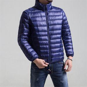 light men's stand collar winter coat down jacket coat down jacket enlarged men's clothing