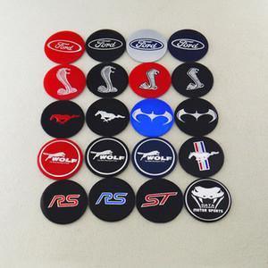 4PCS / 로트 56mm 타이어 휠 센터는 데칼 스티커 엠블럼 자동차 스타일링 맞춤 포드 쉘비 코브라 블랙 캡
