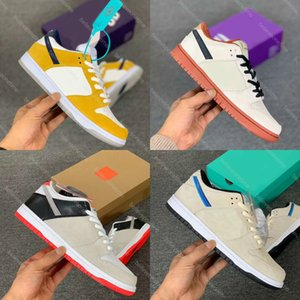 Best Quality SB Dunk Low Pro Blue Furry Muslin Infrared Chunky Dunky Skateboard Shoes Plum Truck It Pack Laser Orange Men Sneakers With box