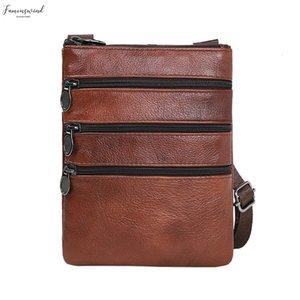 Ocardian Handbags Mens Bag Male Leather Messenger New Fashion Vintage Shoulder Casual Shoulder Fashion Messenger Bag Large Capacity