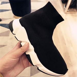 Caliente Nuevas marcas diseñadores Hombres Mujeres Speed Trainer Slip-on Wool las zapatillas de deporte del aire de punto del calcetín zapatos de mujer Calcetines Botas