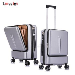 """20 """"24"""" pollici donne Bagagli di rotolamento Caso Valigia Viaggi con Laptop Bag, ruota Uomini universale Trolley PC Box CJ191128"""