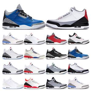 Para hombre Zapatos de la zapatilla de baloncesto del equipo universitario Real Rojo Fuego Negro UNC cemento blanco Tinker Salón de la fama de los deportes zapatillas de deporte al aire libre de la moda tamaño 7-13