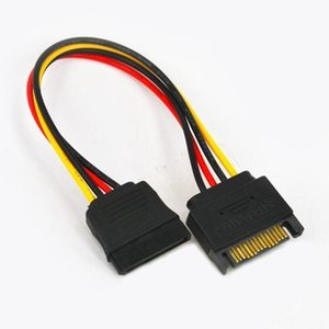 sata için Yüksek Kaliteli SATA 15pin (M) (F) Uzatma kablosu sata güç kablosu adaptörü