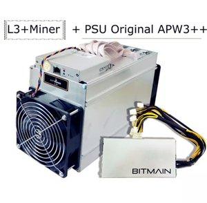 100% original Bitmain AntMiner L3 + Bitcoin Miner con PSU ASIC Miner más nuevo L3 + Btc Miner Bitcoin Minería Machine