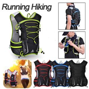 5L campeggio d'escursione esterno in bicicletta Esecuzione Hydration Packs zaino Sport Vest Water Bag pacchetto Off-road Marathon leggera e traspirante Zaino
