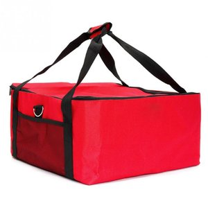 16 Inch Box Holder Oxford Cloth Fresh  Durable Red Pizza Delivery Bag Storage Easy Use Strength Thermal Insulated Portable