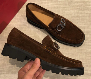 Classic Brand New Mens Gentleman Oxfords Drive Suede Slugged Bottom Slip On Dress Shoes Size 38-44