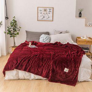 Bonenjoy Blanket on the Bed Single Queen King Coral Fleece Blanket for Sofa Soft Warm couverture de lit Thow Blankets
