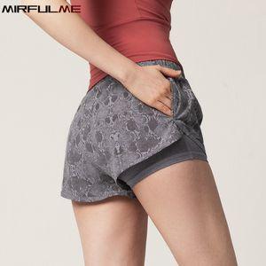 Şort Hızlı Kuru Leopar Kadın Emniyet Spor Yoga Shorts Alt Gym Koşu Bottoms T200412 Koşu Kadınlar Spor Şort Açık Elastik
