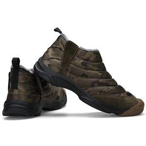 36 ~ 46 Hiver Hommes Oxford Tissu Camouflage Bottes De Neige Imperméable Hommes Bottines Bottines Chaudes Chaussures de promenade en plein air Noir