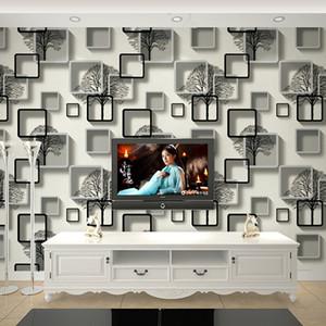 New Nordic style wallpaper modern minimalist white wood vertical stripes bedroom living room ceiling loft wallpaper