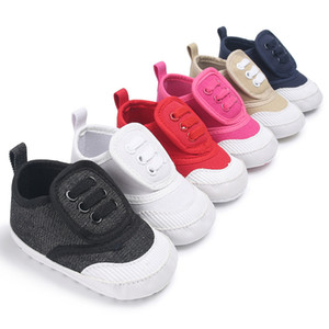 Canvas Baby Shoes For Kids 0-18 month Boys Girls Shoes Solid Soft Bottom Baby Sneakers Sport Shoes