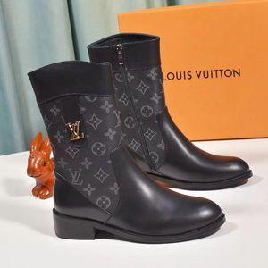 Мотоцикл сапоги Женская обувь из кожи Chaussures де фам Luxury Design Lady Обувь Casual с Box Bottes Femmes Мода Обувь Женская L821