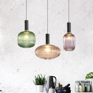Variopinta moderna Glass Ball luci a sospensione Nordic hanglamp lampada a sospensione per pranzo Soggiorno Cucina bar Luster lampadari