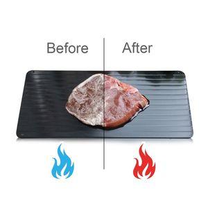 Rapide Décongeler Plateau en aluminium Plaque décongeler de la viande ou des aliments congelés cuisson S M L TAILLE Décongeler Plate Conseil Defrost cuisine OUTILS KKA7846