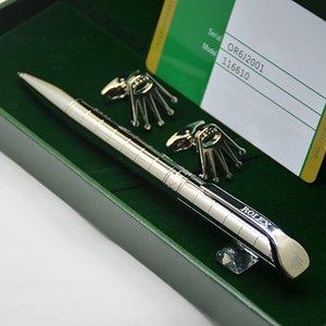 Regalo di compleanno di lusso - Top di alta qualità Rlx Branding metallo Penna a sfera + Francese Uomo Camicie Gioielli Gemelli con la scatola originale Packaging