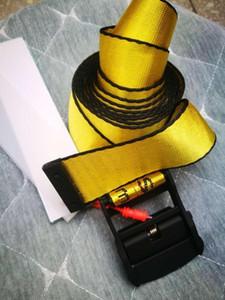 Top Aus Gelb Weiß Gürtel Stickerei Leinwand Brief 130cm-200cm Lange Femal Gürtel für Frauen Luxuxentwerfer Brand Belts