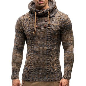 JODIMITTY Осень Зима Мужские свитера с капюшоном Мужские свитера хлопок перемычка человек мода повседневная серый вино тонкий мужской Hombre