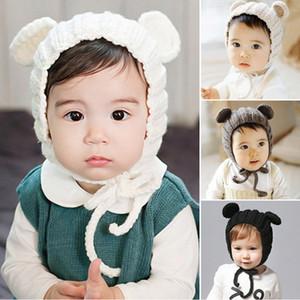 Cute Baby Winter Hat For Kids Newborn Baby Girl Boy Bonnet Hat Knitted Children Infant Toddler Girls Boys Hat Bonnet Enfant Muts