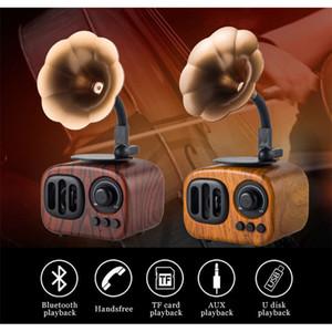 Новые Деревянные Ретро Фонограф Bluetooth Динамики Литературный Сабвуфер Беспроводная Связь Bluetooth Динамик Super Bass Stereo Speaker AS90