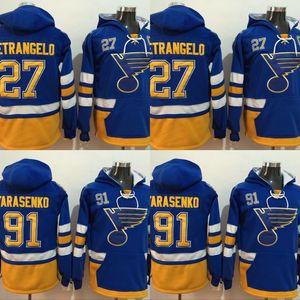 2017 Winter Classic Premier Felpe con cappuccio St. Louis Blues 27 Alex Pietrangelo 91 Vladimir Tarasenko 100% Felpe cucita Maglie da hockey
