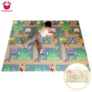 Miamumi portatile del gioco del bambino Mat XPE Foam Double Sided Playmat Home Gioco Puzzle Coperta pieghevole Tappetino per i neonati bambini Tappeto CX200615
