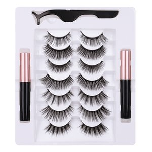 Magnetic eyelashes set 2 magnetic eyeliner liquid new magnet eyelashes multi-pair magnetic lashes