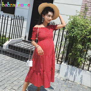 Sommer mutterschaft kleider für foto schießen schwangerschaft kleidung schwangere frauen plus größe mode dot schulterfrei strand dress bc1754mx190912