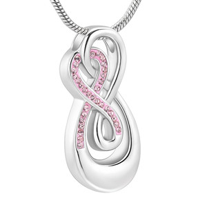 IJD10010 Cremation Jewelry for Ashes - Locket Memorials Keepsakes Urn Gift for Infinity love Locket
