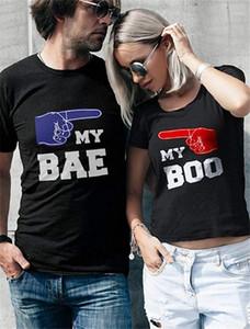 Tshirts O Yaka Kısa Kollu Hiphop Bayan Moda Bae Baskılı Bayan Tees Mektupları Baskılı Çiftler Tops