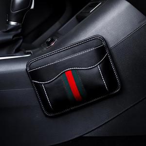 Автомобильные сумки автомобилей Упакованные с мобильным телефоном ящик для хранения Paste Автокресло Кусочек сумка для хранения инструмента Таблица висит сумка