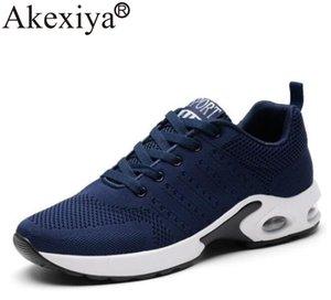 Akexiya Мужская спортивная обувь Run Gym Trail кроссовки для мужчин Mesh Дышащие Летучий кроссовки Мужская Черный Walking обуви Zapatilla