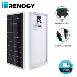 Renogy 100W Watts 12V Mono Painel Solar High Efficiency Module RV Boat Camping