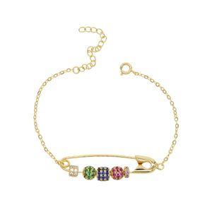 Модный 2019 НОВЫЙ Бохо радуга CZ браслет из бисера булавки для женщин, девушек, золото заполнены хорошие свадебные украшения подарки партии оптом